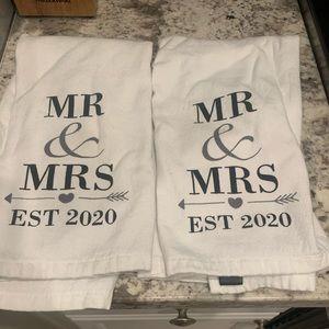 Cynthia Rowley Mr. & Mrs. 2020 White Dish Towels